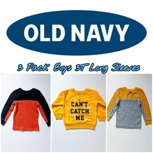 3 Pack Old Navy Boys 3T Long Sleeves
